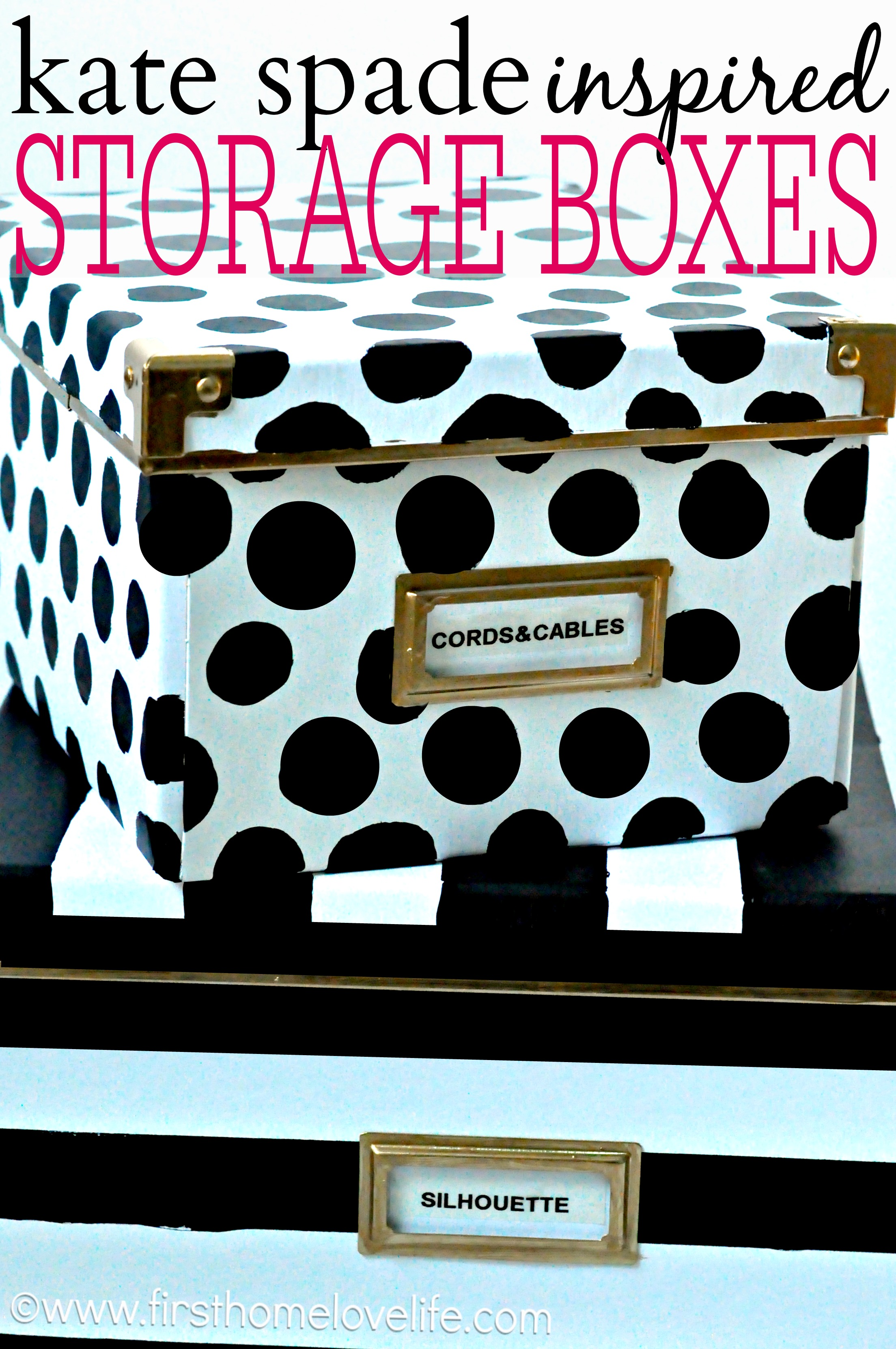 Charmant Kate Spade Inspired Storage Boxes To Hide Away All Of Those Loose Office  Items!