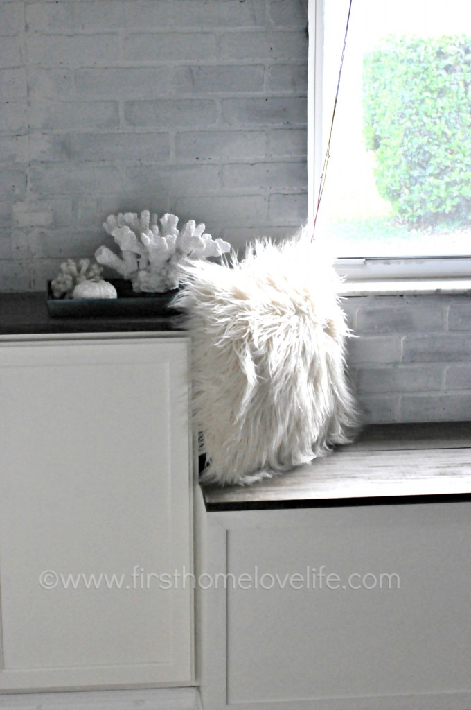 industrial glam window seat