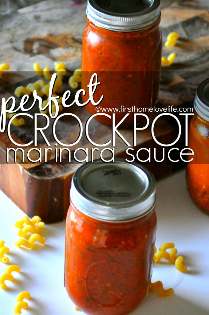 This crock pot marinara is so easy to make it's almost impossible to mess up and will make your house smell incredible all day long while it's cooking!