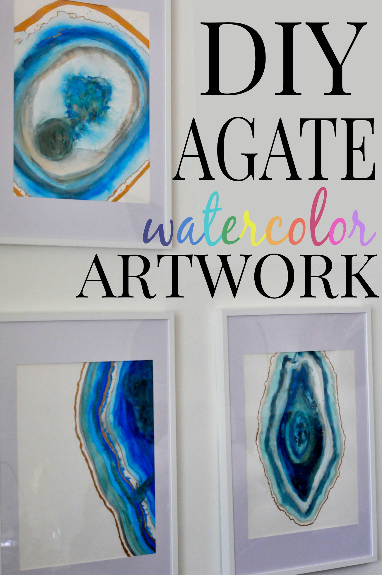 Diy agate watercolor artwork first home love life for Diy paint