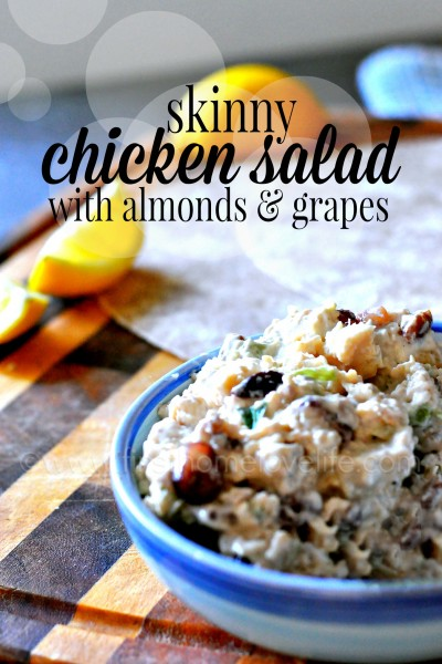 Skinny Chicken Salad with Almonds and Grapes