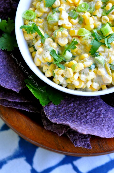 This sweet and spicy corn salsa is the perfect side at your next BBQ! Creamy, sweet, and a bit of heat-- it's perfect with anything you pair it with!