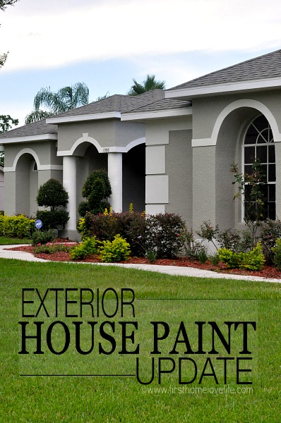 EXTERIOR HOUSE PAINT UPDATE:After months of interviewing different painters, and painting close to a bazillion different color swatches on the wall, our house finally got it's much needed facelift a couple of weeks ago, and all I keep thinking is...