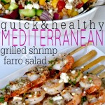 Greek Grilled Shrimp & Farro