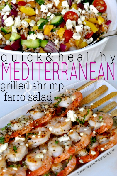GREEK GRILLED SHRIMP AND FARRO SALAD