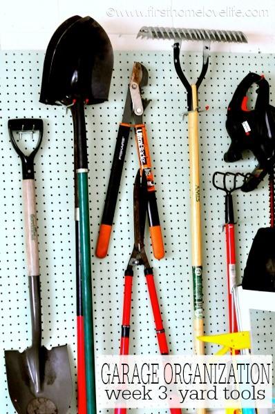 Garage Organization: Yard Tools