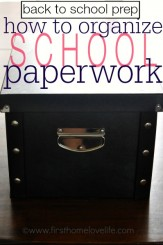 how to organize school paperwork