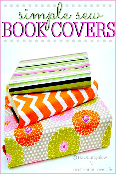 Easy Fabric Book Cover Patterns : Diy fabric book covers first home love life