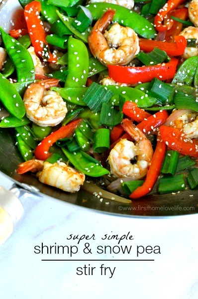 Simple Shrimp and Snow Pea Stir Fry