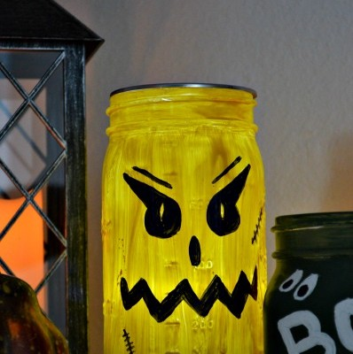 Halloween Monster Mason Jars