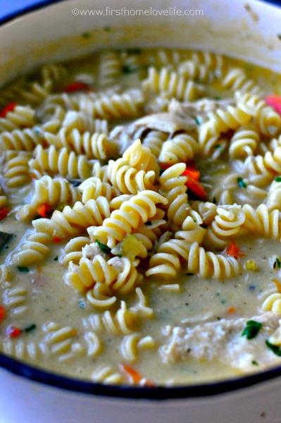 creamy chick noodle soup