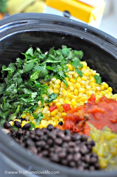crockpot ingredients- chicken tortilla soup
