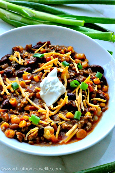 EASY CROCKPOT TACO CHILI