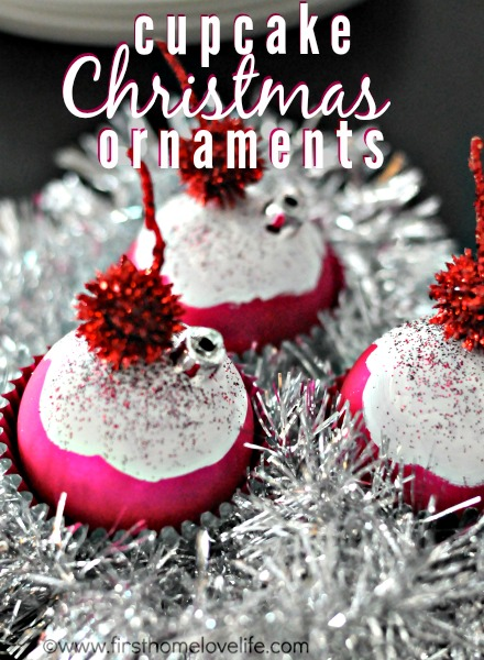 cupcake Christmas ornaments