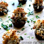 Sausage Stuffed Marsala Mushrooms