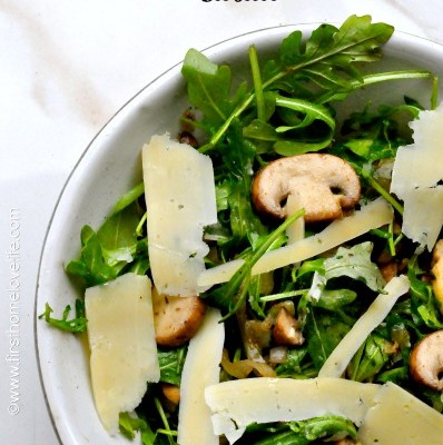 Warm Mushroom and Arugula Salad