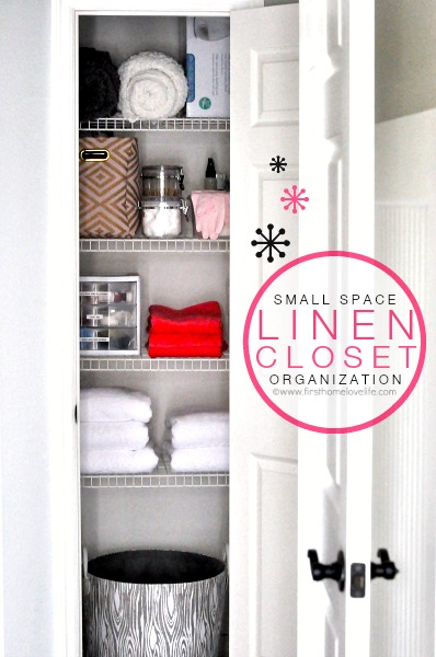 Merveilleux SMALL SPACE LINEN CLOSET ORGANIZATION FROM WWW.FIRSTHOMELOVELIFE.COM