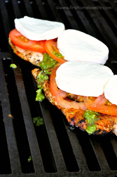 chicken caprese on the grill
