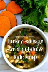 sausage sweet potato and kale soup recipe via firsthomelovelife.com