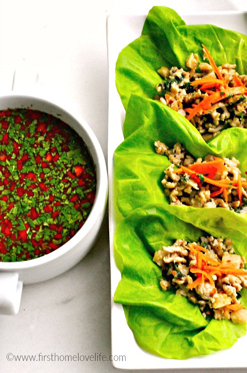 lettuce wraps with dip