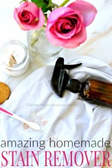 MIRACLE HOMEMADE LAUNDRY STAIN REMOVER via www.firsthomelovelife.com