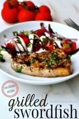 grilled swordfish recipe via www.firsthomelovelife.com