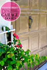 DIY WOOD PAINTED GARAGE DOORS via www.firsthomelovelife.com