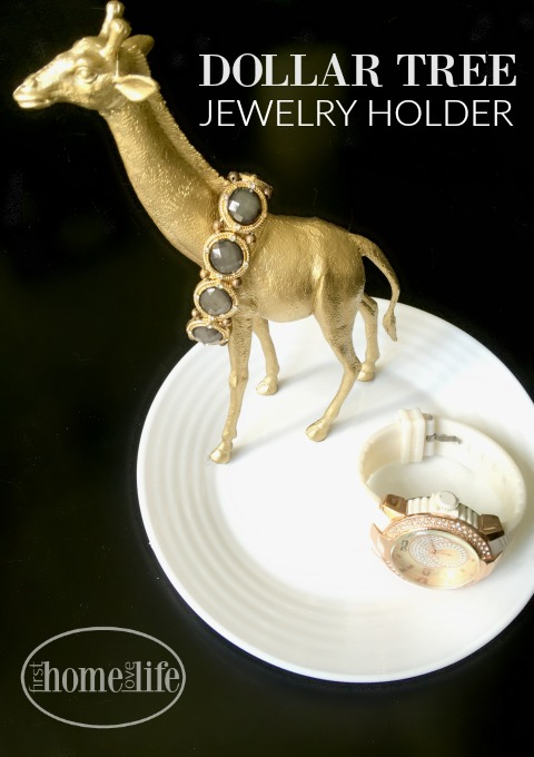 DIY DOLLAR TREE JEWELRY HOLDER VIA WWW.FIRSTHOMELOVELIFE.COM