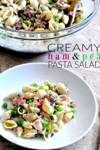 Creamy Ham and Pea Pasta Salad