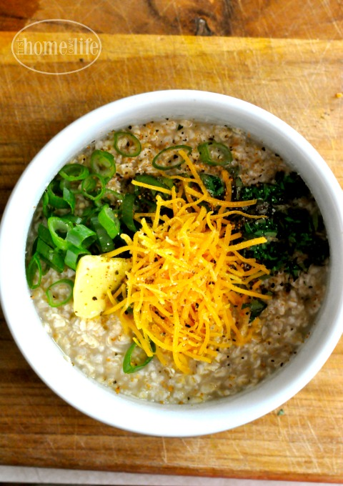 herb and cheese oatmeal- easy breakfast idea