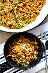 Easy Chinese Pork Fried Rice at Home via www.firsthomelovelife.com