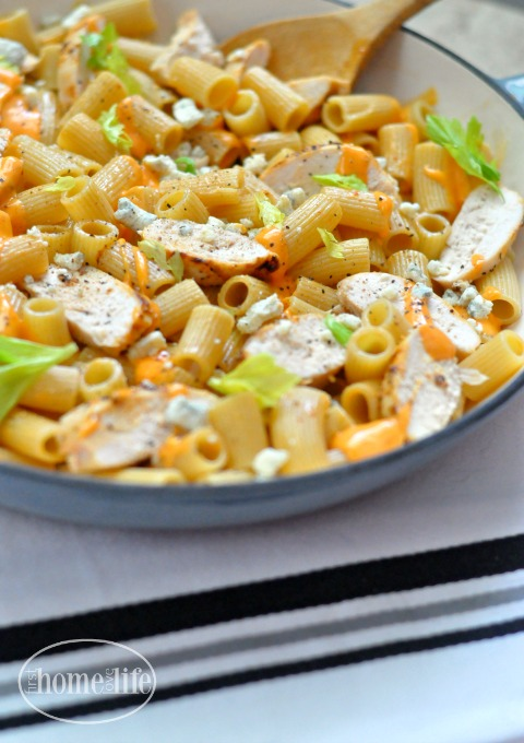 easy buffalo chicken pasta recipe