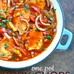 One Pot Pork Chops and Peppers