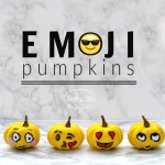 Emoji Painted Pumpkins