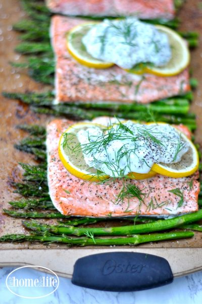 Sheet Pan Lemon Salmon with Asparagus