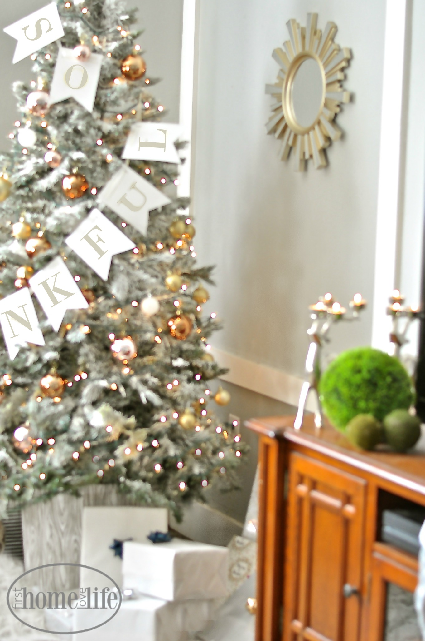 Diy Flocked Christmas Tree First Home Love Life