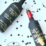 Painted Wine Bottles