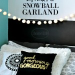 DIY Snowball Garland