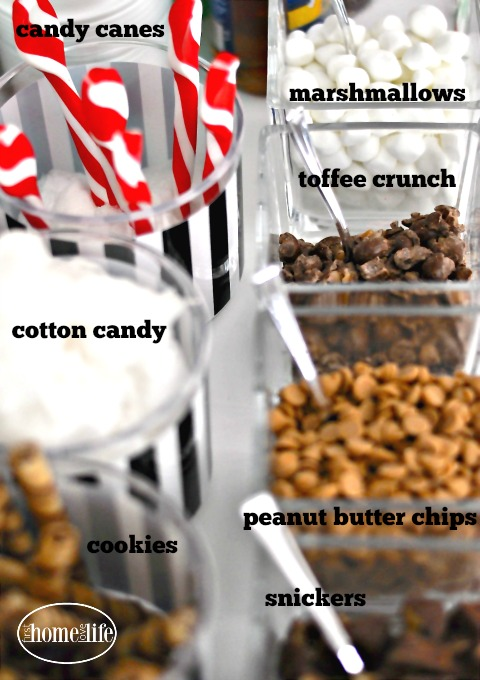 How to host a cookie exchange with a hot chocolate bar for the holidays via firsthomelovelife.com