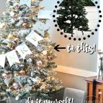 how to flock a fake christmas tree and make it look more expensive! via firsthomelovelife.com