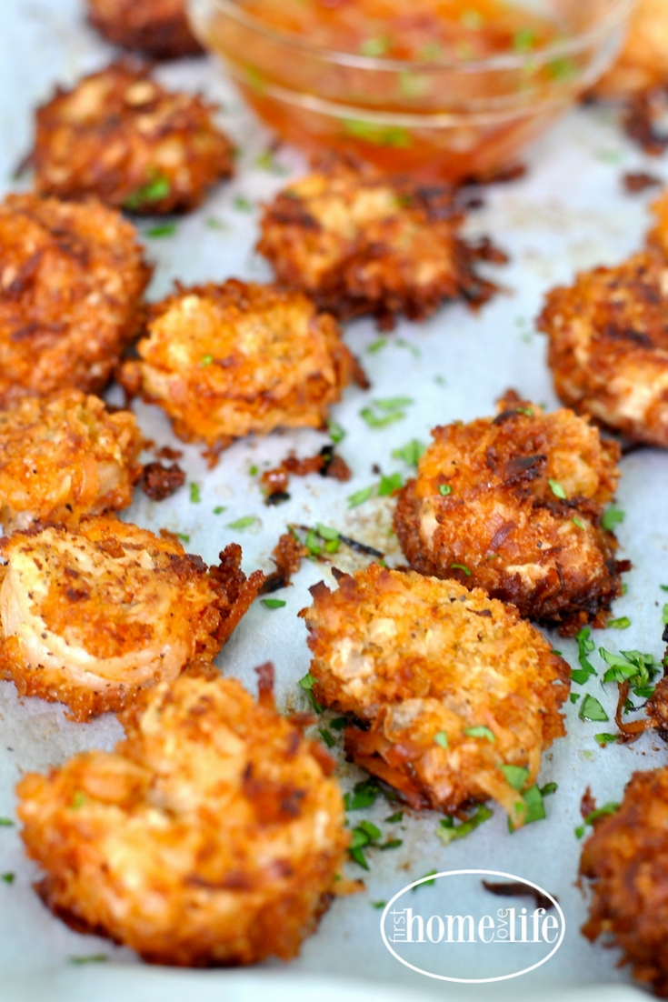 Coconut Fried Shrimp - First Home Love Life