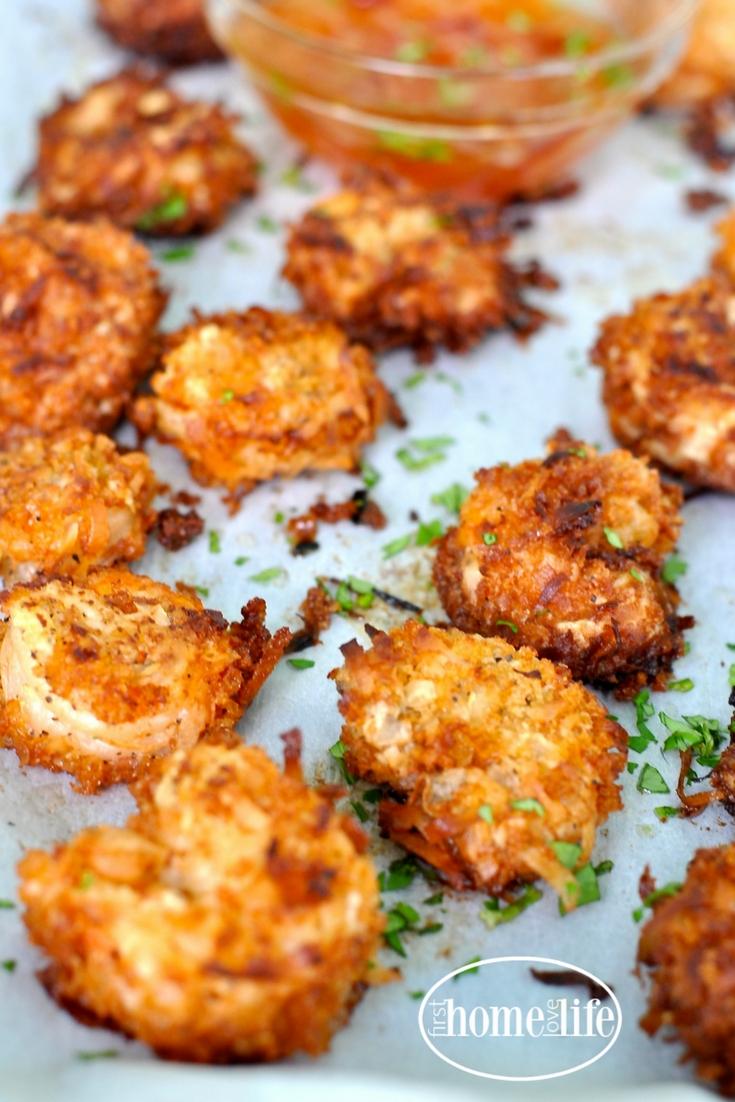 Coconut Fried Shrimp - First Home Love Life