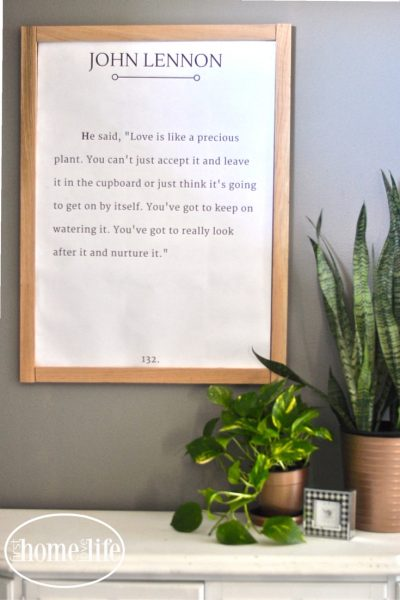 DIY John Lennon Quote Art | Free Printable