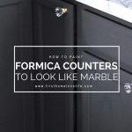 DIY Painted Marble Countertops