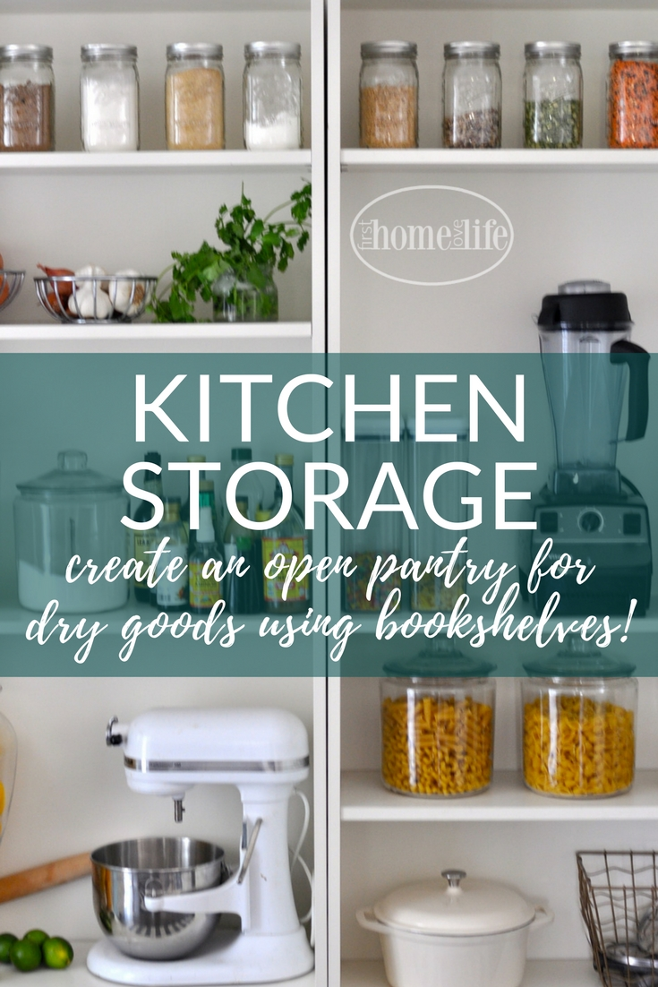 Open Shelf Pantry Storage: Open Pantry Using Bookshelves