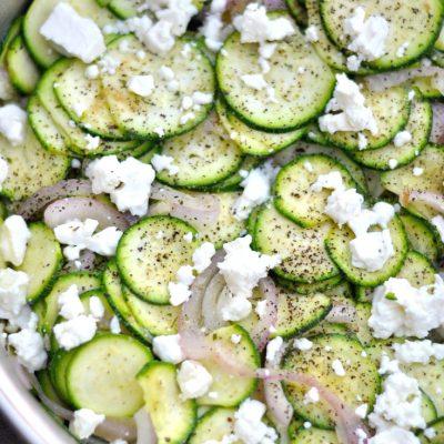 Sautéed Zucchini with Feta