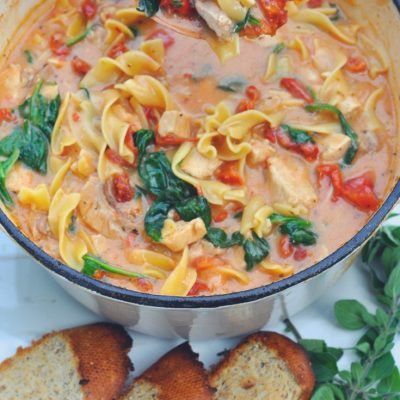 Creamy Tuscan Chicken Noodle Soup